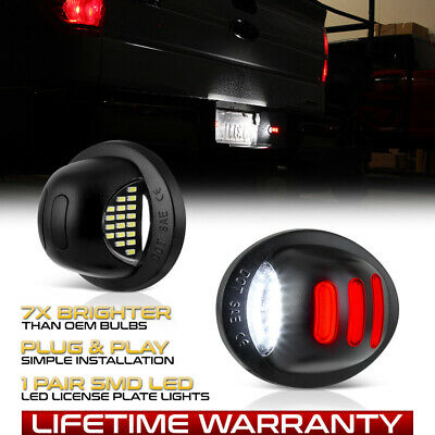 [Exclusive] 1990-2014 Ford F150 Rouge Néon Tube LED Plaque Licence Lumière Paire