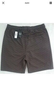8eb397be87819 KITH Tilden Swim Shorts Trunks All Over Box Logo Black / Brown SZ Medium  $120