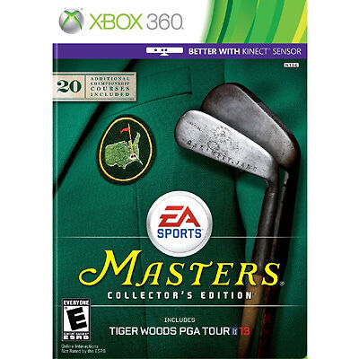 Tiger Woods PGA Tour 13 Masters Collector's Edition ( Xbox 360, 2012) DISC ONLY