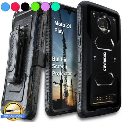 For Motorola Moto Z4 / Z4 Play 2019 Holster Case Belt Clip Phone Cover COVRWARE