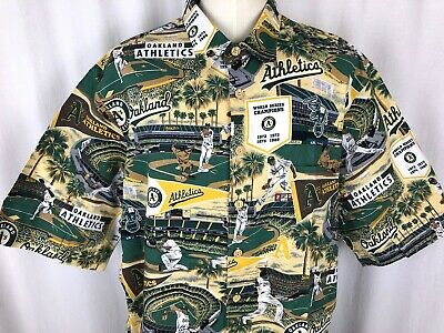 3829fb2b Reyn Spooner Exclusive Mens Oakland Athletics A's MLB Hawaiian Size 3XL  Shirt