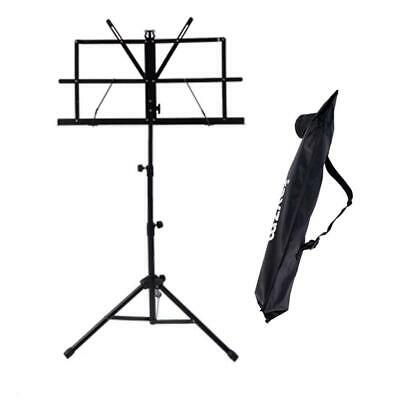Rayzm Sheet Music Book Stand,Sturdy Portable Folding Metal Stand With Carrying