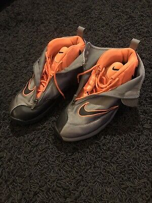 9805a2e431d88 NIKE AIR ZOOM FLIGHT THE GLOVE Cool Grey Hunter Orange 616772-002 Gary  Payton