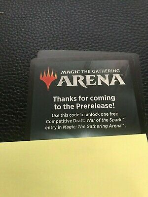 Magic the Gathering Arena Prerelease Code for War of the Spark Draft