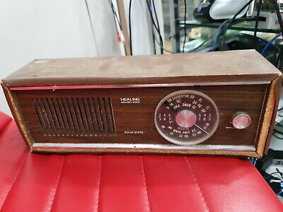 HEALING GOLDEN VOICE solid state Radio teak timber
