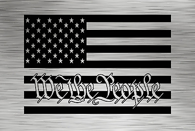 American Flag We The People 1776 2a Liberty Freedom weathered 3/% Decal Sticker