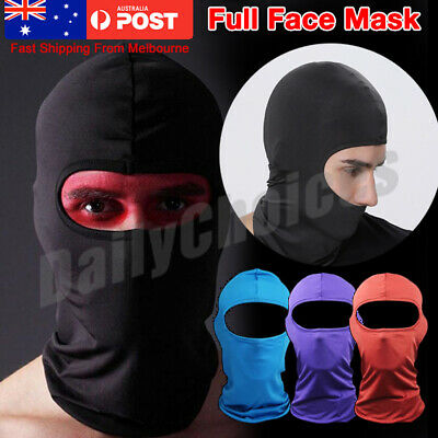 AU Outdoor Ski Motorcycle Cycling Balaclava Full Face Mask Neck Scarf Windproof
