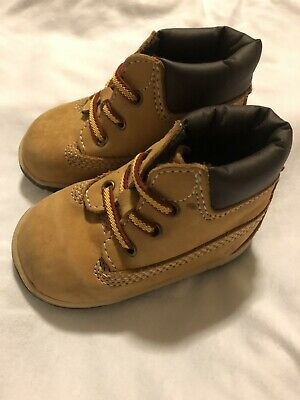 7cf61f18 TIMBERLAND INFANT CRIB Wheat Leather Baby Booties And Hat GIFT SET ...