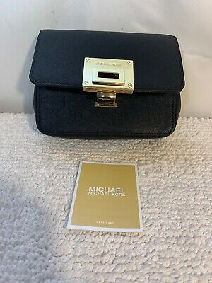 dc060a85a128 MICHAEL KORS HAYES Pebbled Leather SM Clutch Crossbody Bag MULBERRY ...