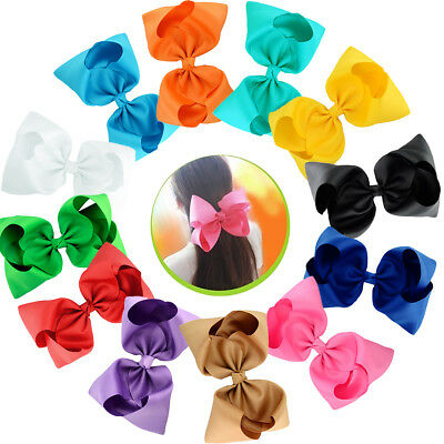 8 Inch Hair Bows Alligator Clips Big Bow  Hair Clips for Girls Kids Teens Senior