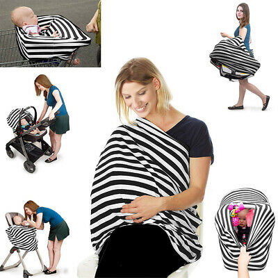 Breastfeeding Carseat Canopy Nursing Covers Apron Poncho Infant Stroller Mother