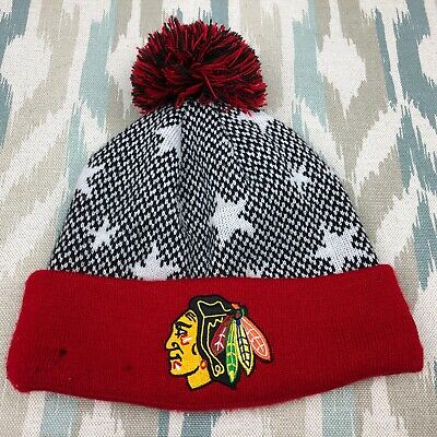 promo code a2186 4a649 New Era Chicago Blackhawks Logo Knit Beanie Toque Winter Hat Ski Cap NHL