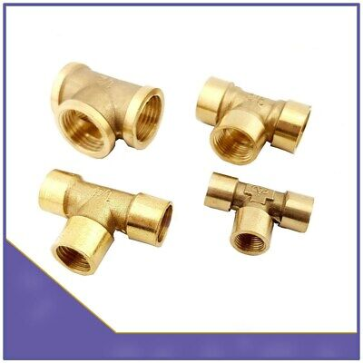 BSP Brass 3 Way T-Shape Equal Female Thread Tee Connector Pipe Fittings Adapters