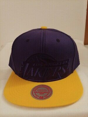 1ccbd10c9a438 Mitchell   Ness NBA Los Angeles Lakers Team Arch 2 Tone Adjustable fit Cap  Hat