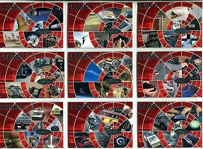 James Bond 007 - 40th Anniversary - Complete Bond Extras Chase Card Set (19) NM