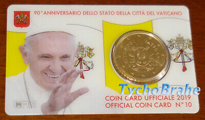COIN CARD 2019 VATICANO 50 cent COAT OF ARMS Coincard - STEMMA BLASON VATICAN BU