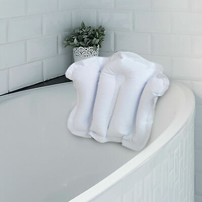 Meridiana Terry Cloth Fronted Inflatable Bath Pillow