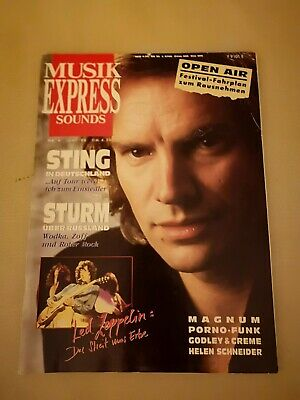 Musik Express Sounds Zeitschrift 1988 Nr. 6 (Sting, Led Zeppelin, Godley & Creme