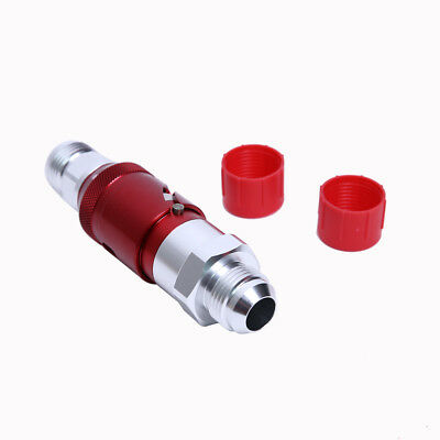 AN-12 Aluminium Body Quick Release Brake Fluid Fitting Adapter Red Coupling