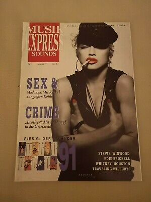Musik Express Sounds Zeitschrift 1991 Nr. 1 (Madonna, Whitney Houston)