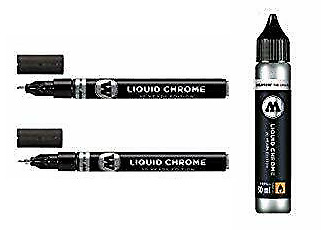 Molotow Liquid Chrome Pack - 2x Markers & 30 ml Refill - NEW - Free Shipping