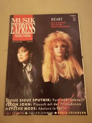 Musik Express Sounds Zeitschrift 1986 Nr. 5 Elton John, Depeche Mode, The Cramps