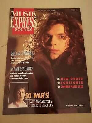 Musik Express Sounds Zeitschrift 1988 Nr. 3 (Foreigner, Toten Hosen, Beatles)