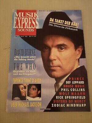 Musik Express Sounds Zeitschrift 1988 Nr. 5 (The Who, Michael Jackson, Prince)