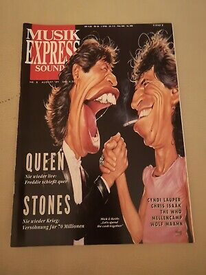 Musik Express Sounds Zeitschrift 1989 Nr. 8 (Queen, Rolling Stones, The Who)