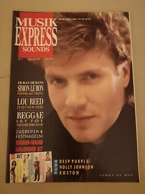 Musik Express Sounds Zeitschrift 1987 Nr. 1 inkl. Kalender (Deep Purple, Boston)