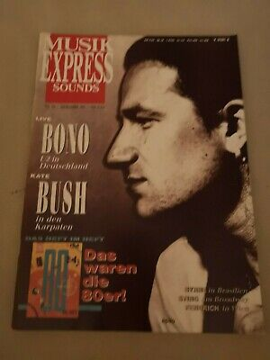 Musik Express Sounds Zeitschrift 1989 Nr. 12 (U2, Kate Bush, Sting)