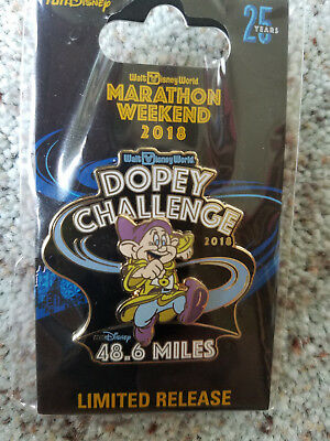 RunDisney WDW Walt Disney Marathon 2018 Dopey Challenge Pin in original package
