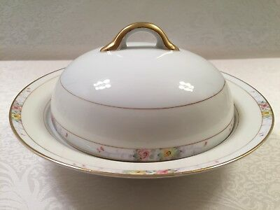 """Vintage Noritake """"The Linwood"""" ~ #11657 ~ Round Covered Butter Dish ~ Very Rare"""