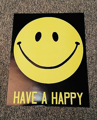 """Vintage 1970's Hippie Love """"Have a Happy Day"""" Poster"""