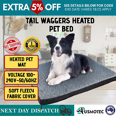 Tail Waggers Pet Bed Pet-friendly Orthopedic Electric Heated Foam Medium Dogs
