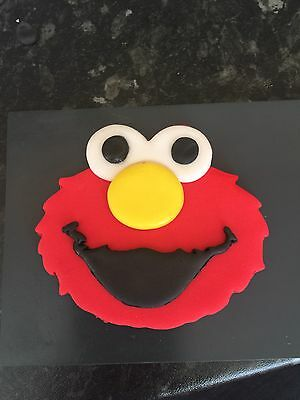 Sesame Street Edible Cup Cake Toppers Elmo Face 3 And A