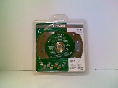 HITACHI 7-inch Dry/Cut Wet Cut Turbo Diamond Blade-NEW