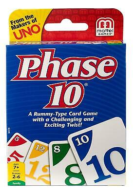 Phase 10 Family Card Game From The Makers Of Uno A Rummy Type With A Challenging