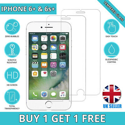 100% Genuine Tempered Glass Film Screen Protector For iPhone 6 Plus & 6S Plus