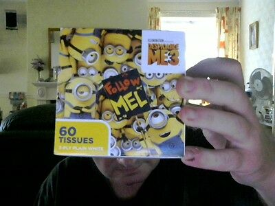 Disney Despicable Me 3 Box Decorated 60 3 Ply Tissues Hayfever Sniffles