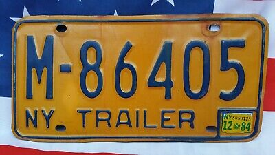 Plaque d'immatriculation New York M-86405 US USA license plate