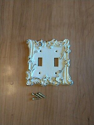 Vintage Mid-century Regency Double Light Switch Cover