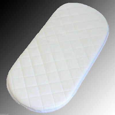 Moses Basket Mattres Oval Shape Soft Quilted & Waterproof Made in UK 8 Sizes