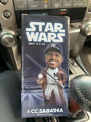 2019 New York Yankees CC Sabathia Star Wars Bobblehead SGA Jedi NY Stadium 5/4