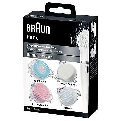 Braun 80-m Silk epil Face Extra Multi-Pack of 4 Refills - Brand New & Genuine