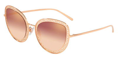 c5f1ae0d9c6c NEW AUTH DOLCE & Gabbana Oversized Pale Gold Pink Sunglasses 3044/13 ...