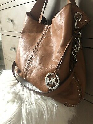 e67a26fb42bdcf Michael Kors Uptown Astor Hobo Tote Crossbody Luggage Leather L $498  Excellent!