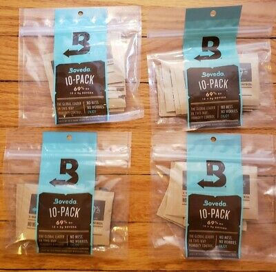 BOVEDA 69% RH Lot of 4 (10-Pack x 8g) total of 40
