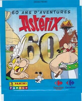 1 Pochette = 3 Stickers - 60 Ans D'aventures Asterix - Panini Edition Carrefour