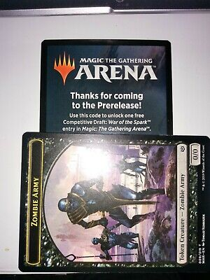 Magic War of the Spark MTG Arena Prerelease Code Competitive Draft Card